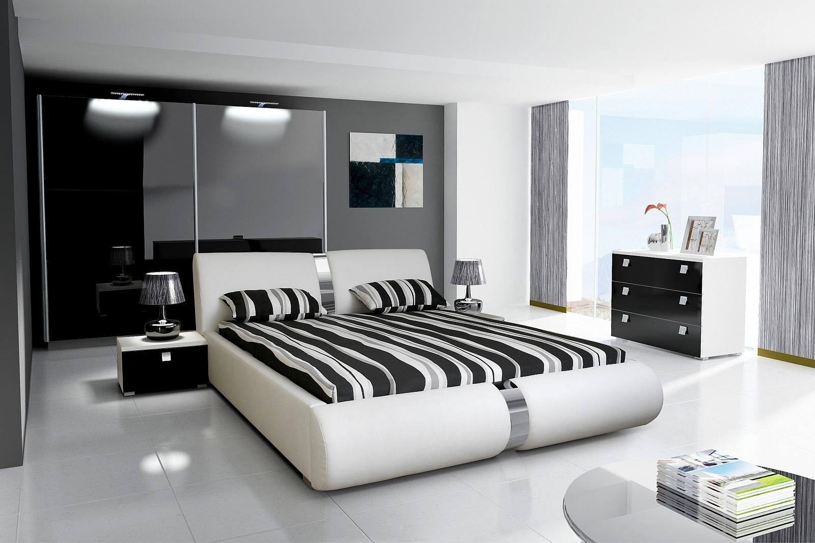 schlafzimmer novalis i hochglanz wei schwarz. Black Bedroom Furniture Sets. Home Design Ideas