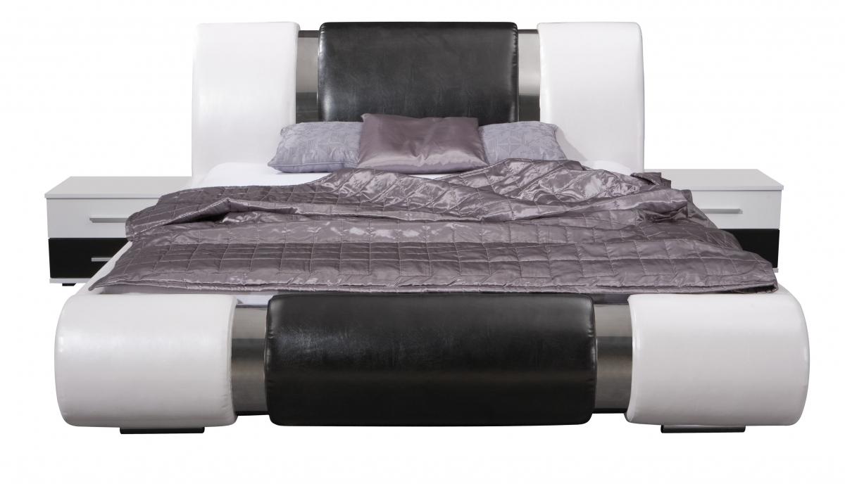 komplett schlafzimmer kansas hochglanz schwarz weiss. Black Bedroom Furniture Sets. Home Design Ideas