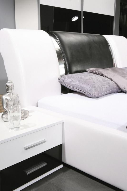 schlafzimmer kansas hochglanz schwarz/weiss - Schlafzimmer Komplett Schwarz Weiss