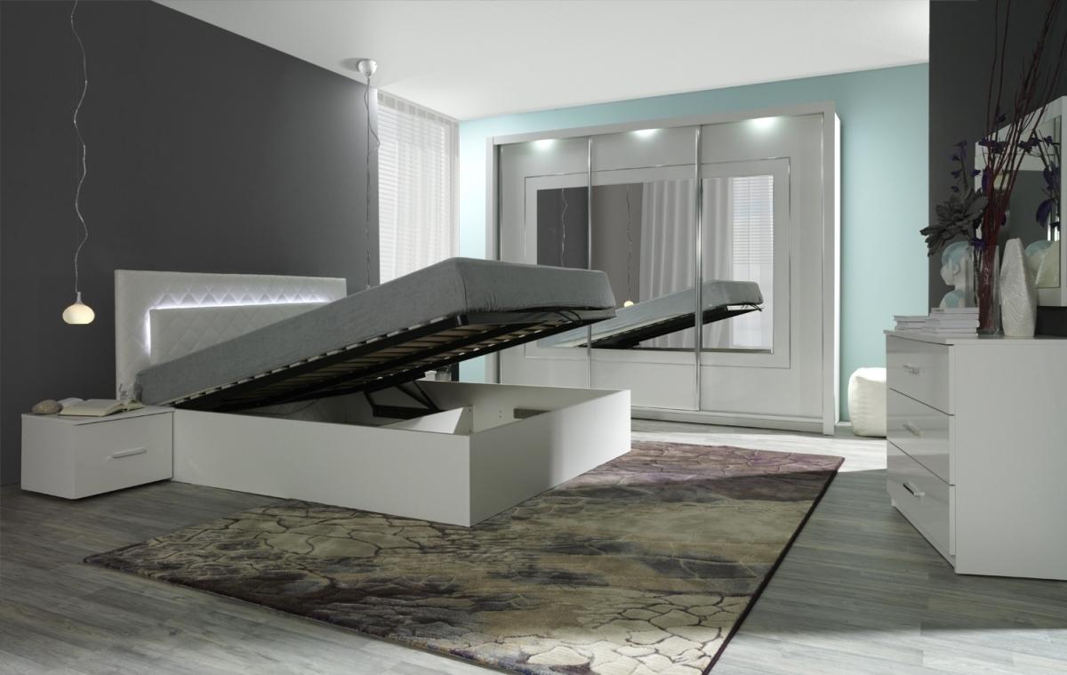 designer schlafzimmer panarea hochglanz wei - Designer Schlafzimmer