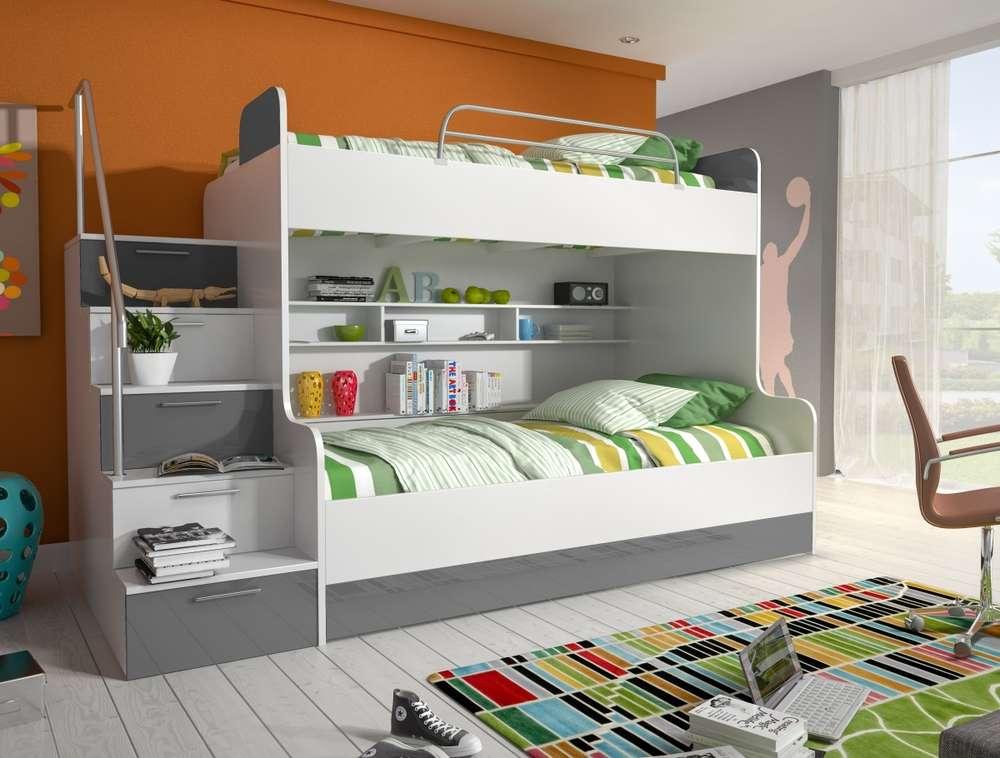 Etagenbett Drei : Hochglanz etagenbett alex in drei farben