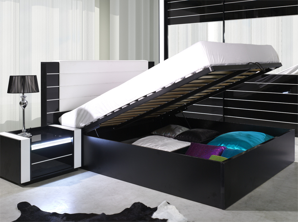 Hochglanz Schlafzimmer komplett LINN - Lukas Möbel