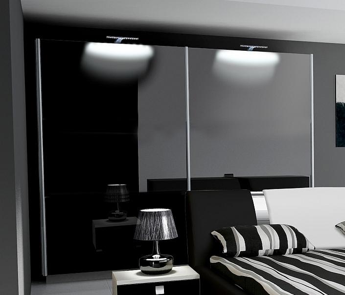 Superb Schlafzimmer Mobel Schwarz #13: Schlafzimmer NovaBox In Hochglanz Mit Boxspringbett