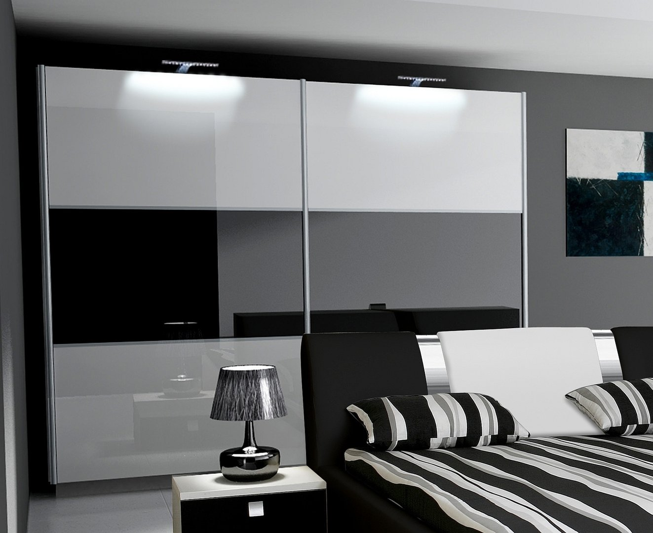 komplett schlafzimmer hochglanz rivabox ii. Black Bedroom Furniture Sets. Home Design Ideas