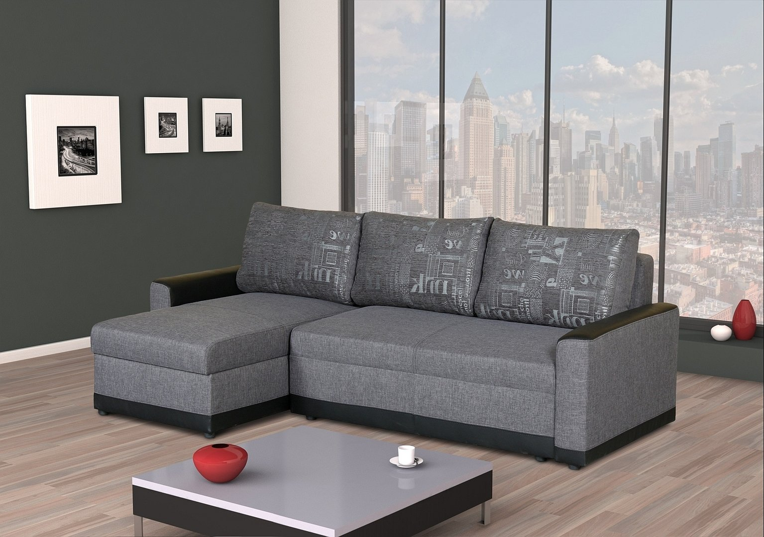 ecksofa rico mit schlaffunktion federkern 2 x bettkasten. Black Bedroom Furniture Sets. Home Design Ideas