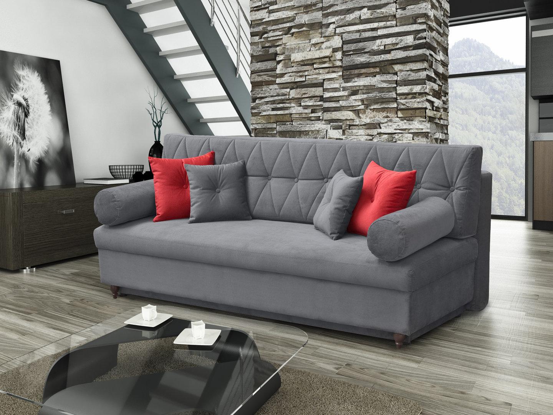 schickes schlafsofa palermo mit bettkasten. Black Bedroom Furniture Sets. Home Design Ideas