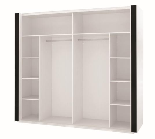 kleiderschrank linn hochglanz weiss. Black Bedroom Furniture Sets. Home Design Ideas