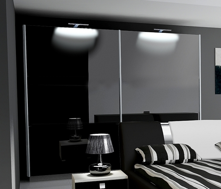 kleiderschrank nova hochglanz mit farbauswahl. Black Bedroom Furniture Sets. Home Design Ideas