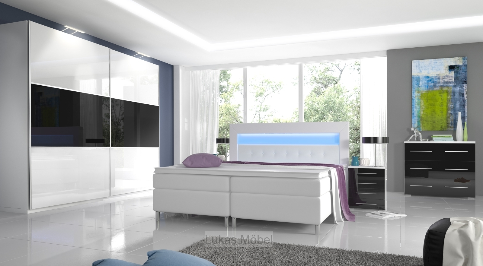 hochglanz schlafzimmer rivaled. Black Bedroom Furniture Sets. Home Design Ideas