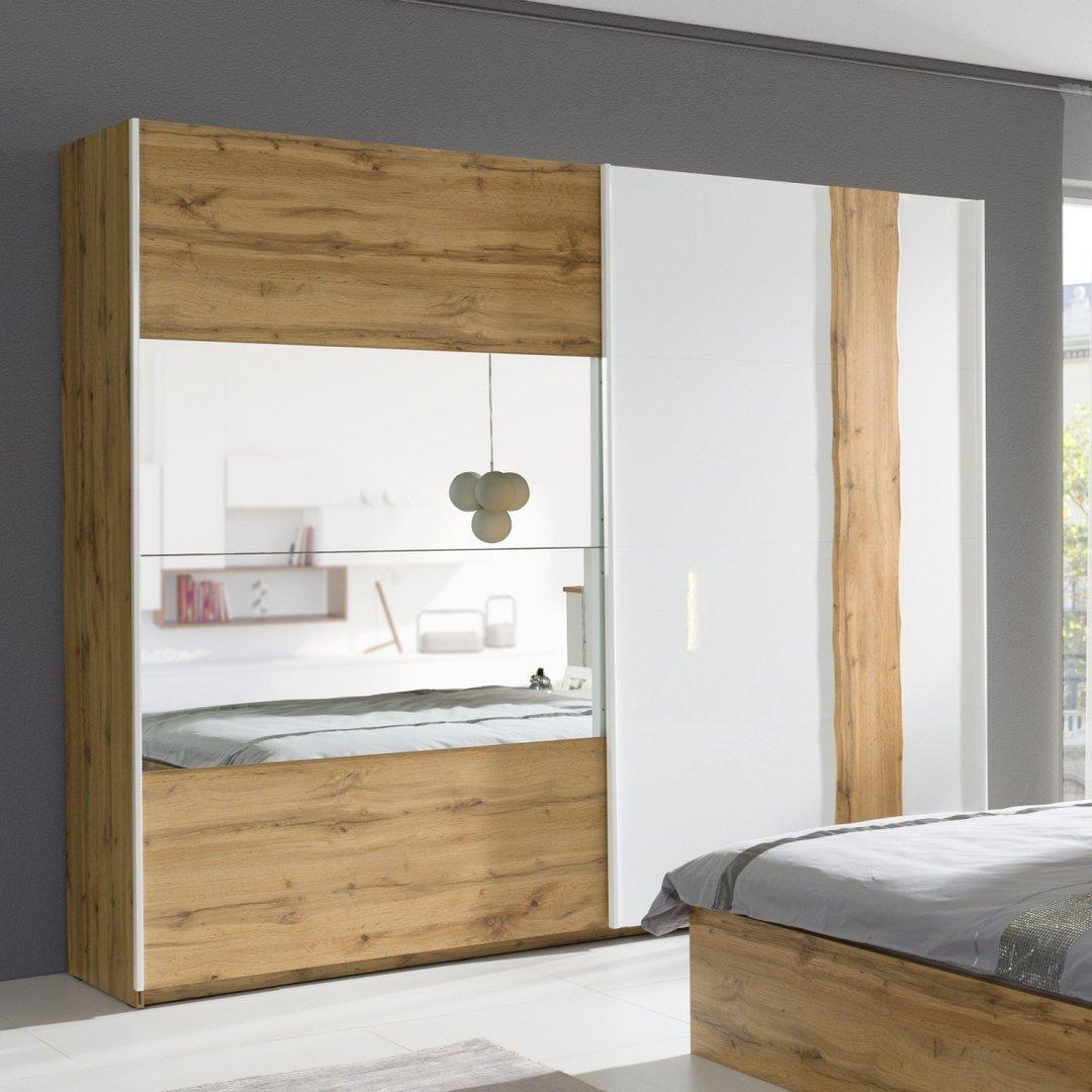 Hochglanz Schlafzimmer Forest in Altholz Design