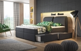 Boxspringbett Brunei mit Bettkasten