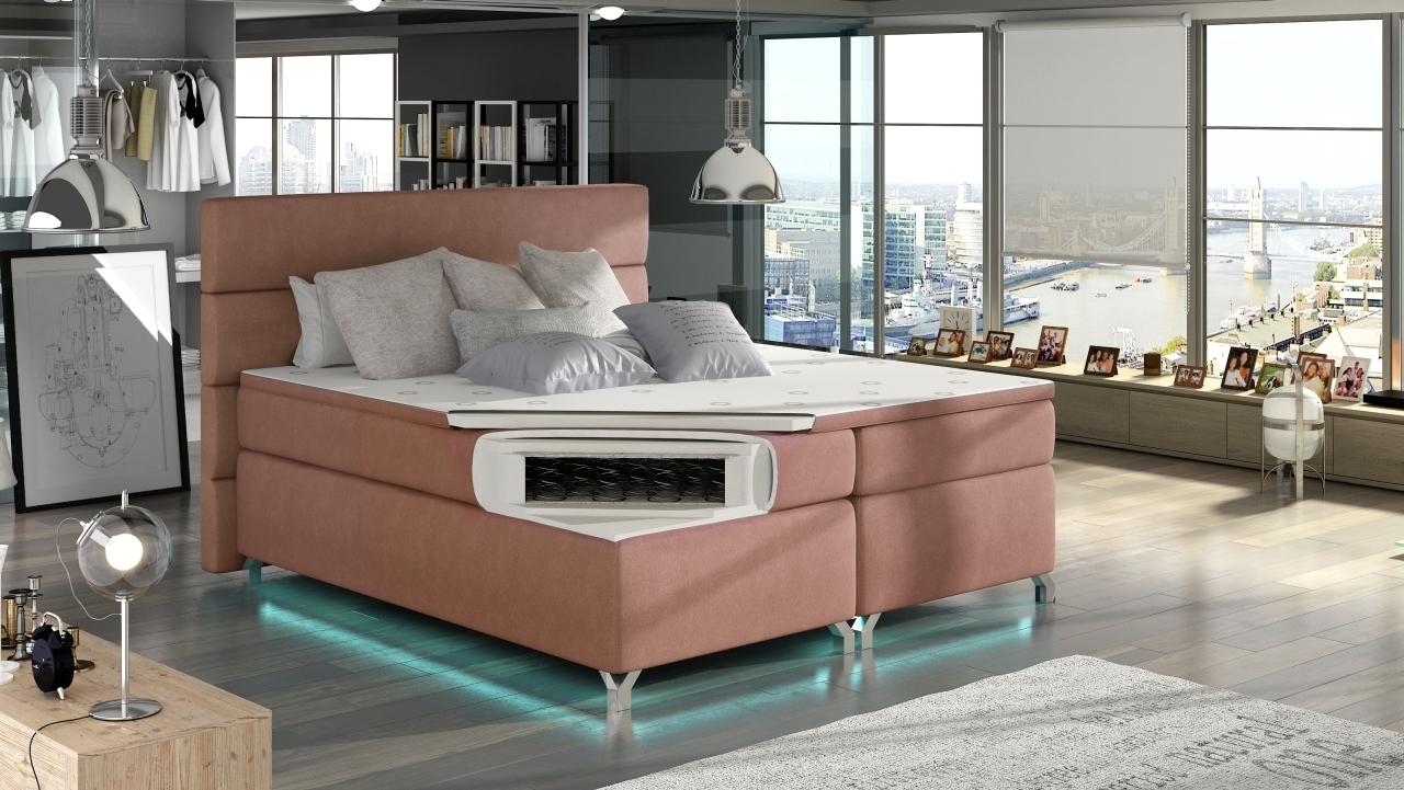 boxspringbett amelie mit 2 bettkasten. Black Bedroom Furniture Sets. Home Design Ideas